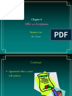 Business Law Offer and Acceptance