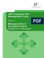 Integrated Risk Management Policy Part 1 Managing Risk in Everyday Practice
