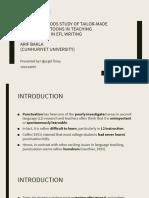 Teaching Writing Article Presentation (Uğurgül Üney)