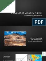 Ejemplos de Minas en El Perú