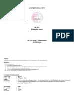 OBE Philippine Music Course Syllabus