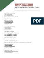 Hans Mat Pagli Pyaar Ho Jayega Lyrics Translation   Toilet - Ek Prem Katha