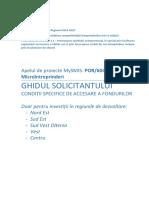 Ghidul solicitantului POR 2.1 A - Microintreprinderi