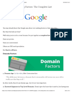 Googles 200 Ranking Factors the Complete List