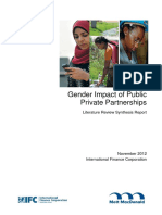 PIDG-IfC_Gender Impact of Private Public Partnerships in Infrastructure
