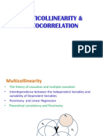 Multicollinearity Autocorrelation