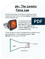 Example the Lorentz Force Law