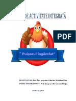 Puișorul - Proiect de Activitate Integrată
