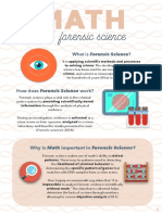 MATH Use of Math in Forensic Science Copy