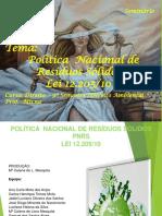 Slide Politica Nacional de Resíduos Sólidos