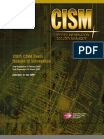CISM Certification Brochure