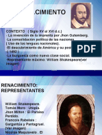 El Renacimiento w. Shakespeare s10 Pre