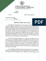 SET Case No. 001 16 Resolution No. 16 134 Dated 08 October 2018