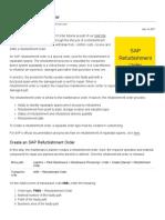 SAP Refurbishment Order Tutorial - Free SAP PM Training