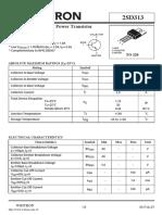 Transistor  2sd313