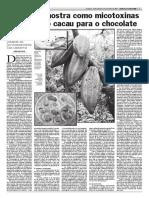 Aflatoxinas en Cacao