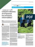 Invertimos 20 Millones de Dólares en Impulsar Los Envases Retornables