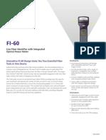 Fi 60 Live Fiber Identifier Integrated Optical Power Meter Data Sheets En