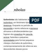 Quilombolas – Wikipédia, A Enciclopédia Livre