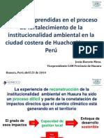 Lecciones Aprendidas Gestión Ambiental Provincia de Huaura