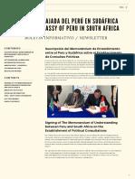 Boletin Informativo Newletter  No 2 - Abril / April 2019