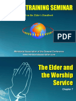Chapter 7 the Elder and the Woship Service