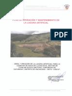 Plan de Operación y Mantenimiento de Laguna Artificial Ancahuasi