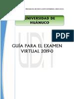 Guia Examen Virtual udh