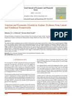Tourism and Economic Growth in Jordan_ Evidence From Linear and Nonlinear Frameworks[#353176]-364164