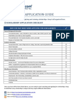 Scholarship Application Guide