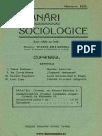 Insemnari Sociologice anul II, nr. 8, noiembrie 1936