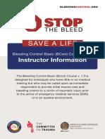 Bleeding Control Basic Instructor Guide