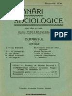 Insemnari Sociologice anul II, nr. 9, decembrie 1936