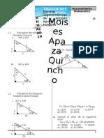 Razones Trigonometricas de Angulos Agudos Notables