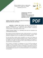 ORDINOLA CAMPOS Desaparicion de Condena