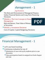 1.Session Plan Financial Management-1 Module 1