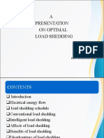 Optimal Load Shedding