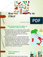 Business Culture in ITALY