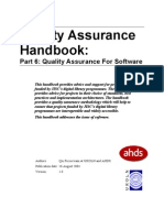 Qa Handbook Software