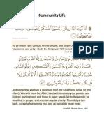 Quran and Community Life