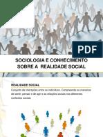 Sociologia e Conhecimento Sobre a Realidade Social