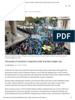 Science 2019 Argentinean Scientists Protest