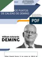 Los Catorce Puntos de Calidad de Deming