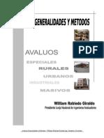 Avaluos Generalidad y Metodos Ing. William Robledo 14-06-05