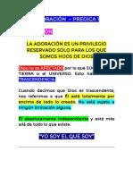 ADORACIÓN - PREDICA 1 - MAURICIO SERNA