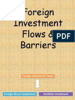 Foreign Investment Flows & Barriers[1]