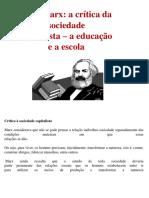 Educação em Marx