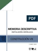 MEMORIA HIDRÁULICA