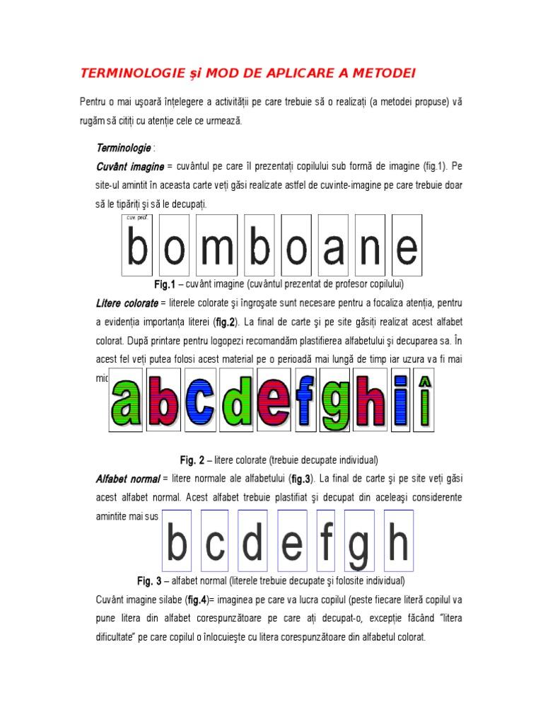 Terminologie Si Mod De Aplicare A Metodei Carte2doc