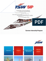 Jsw Summer Internship